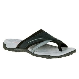 MERRELL J55328 Terran Post II Black Sandals size 7